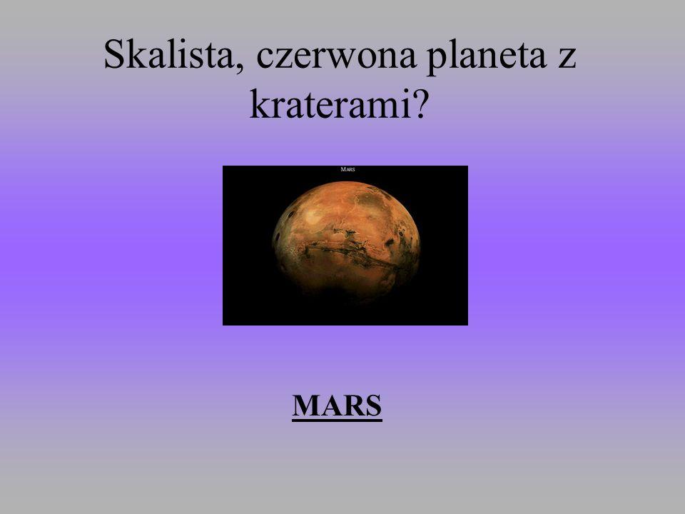 Skalista, czerwona planeta z kraterami