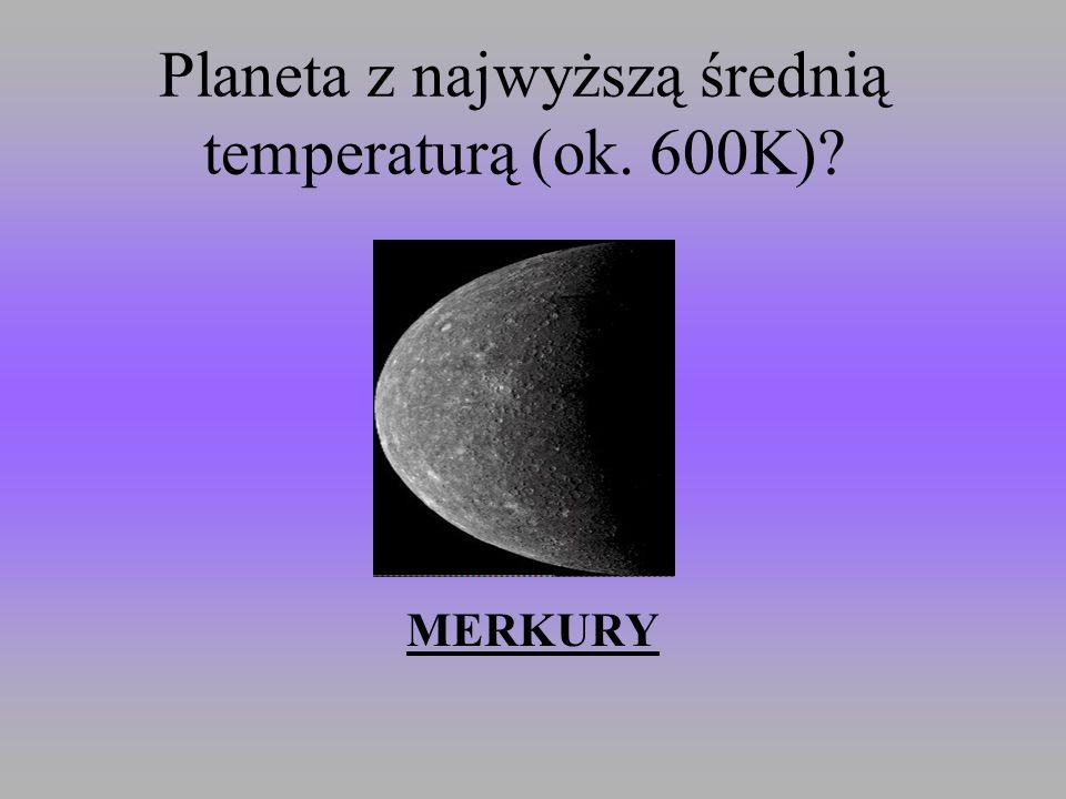 Planeta z najwyższą średnią temperaturą (ok. 600K)