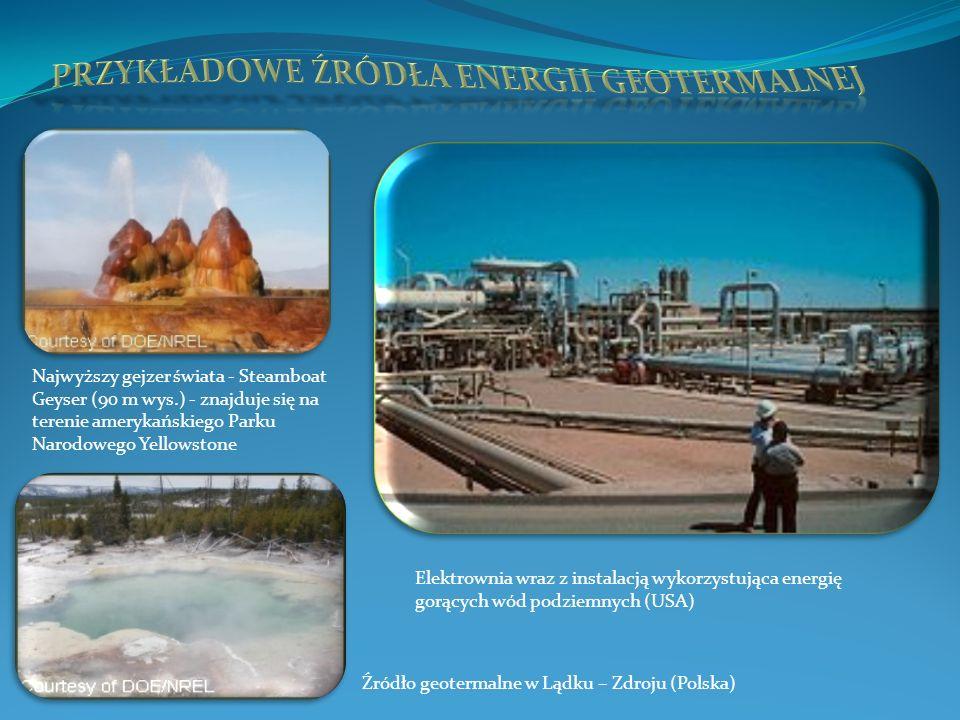 Przykładowe źródła energii geotermalnej