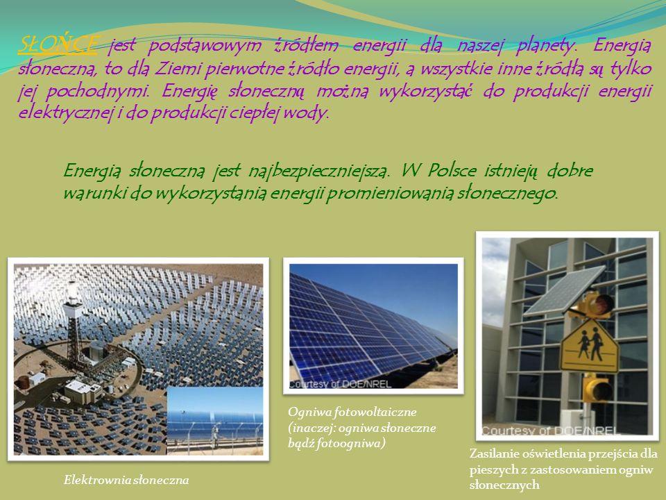 SŁOŃCE jest podstawowym źródłem energii dla naszej planety