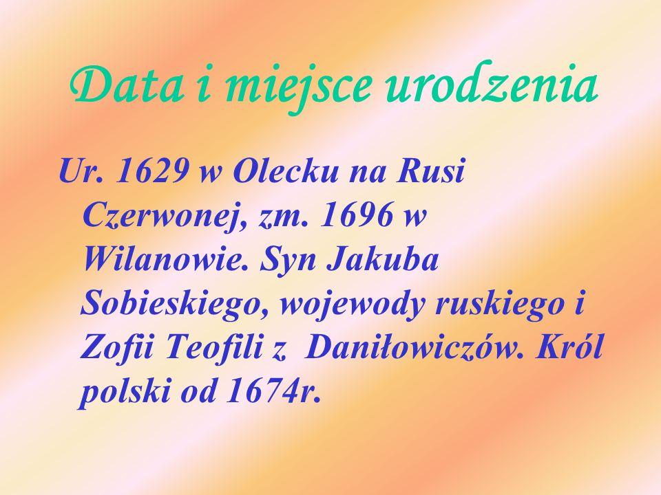 Data i miejsce urodzenia
