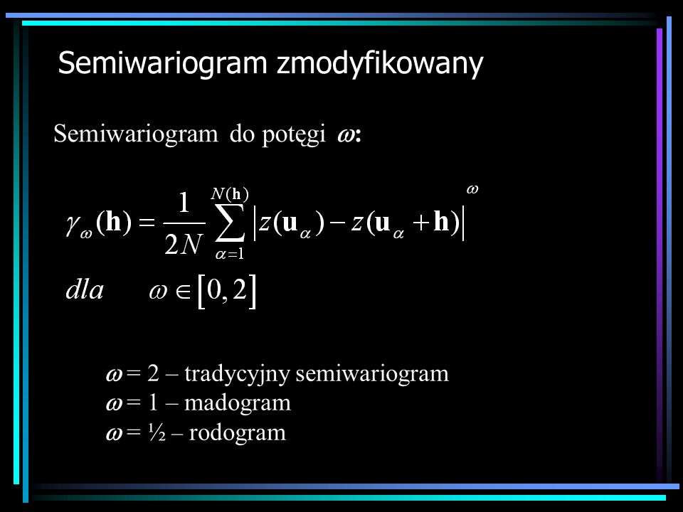 Semiwariogram zmodyfikowany