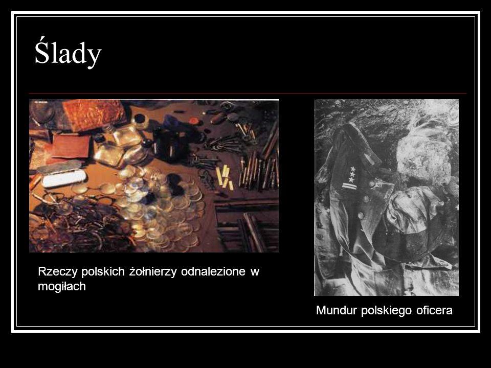 Ślady Rzeczy polskich żołnierzy odnalezione w mogiłach