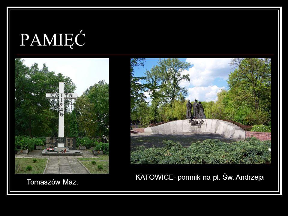 PAMIĘĆ KATOWICE- pomnik na pl. Św. Andrzeja Tomaszów Maz.