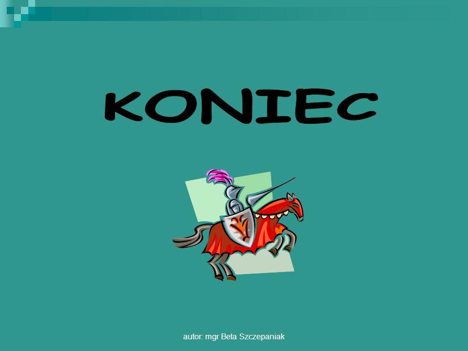 autor: mgr Beta Szczepaniak