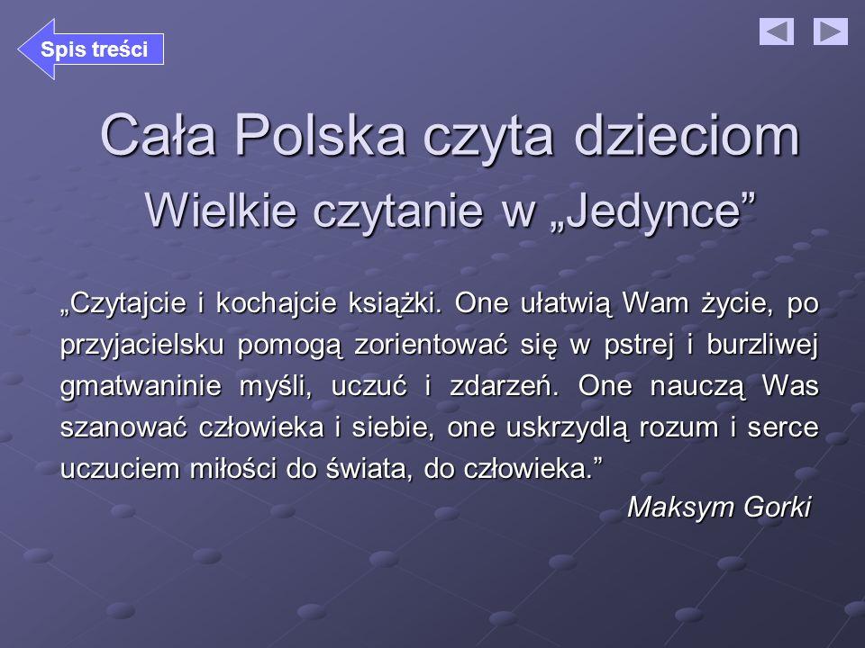 """Cała Polska czyta dzieciom Wielkie czytanie w """"Jedynce"""