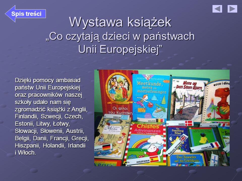 """Wystawa książek """"Co czytają dzieci w państwach Unii Europejskiej"""