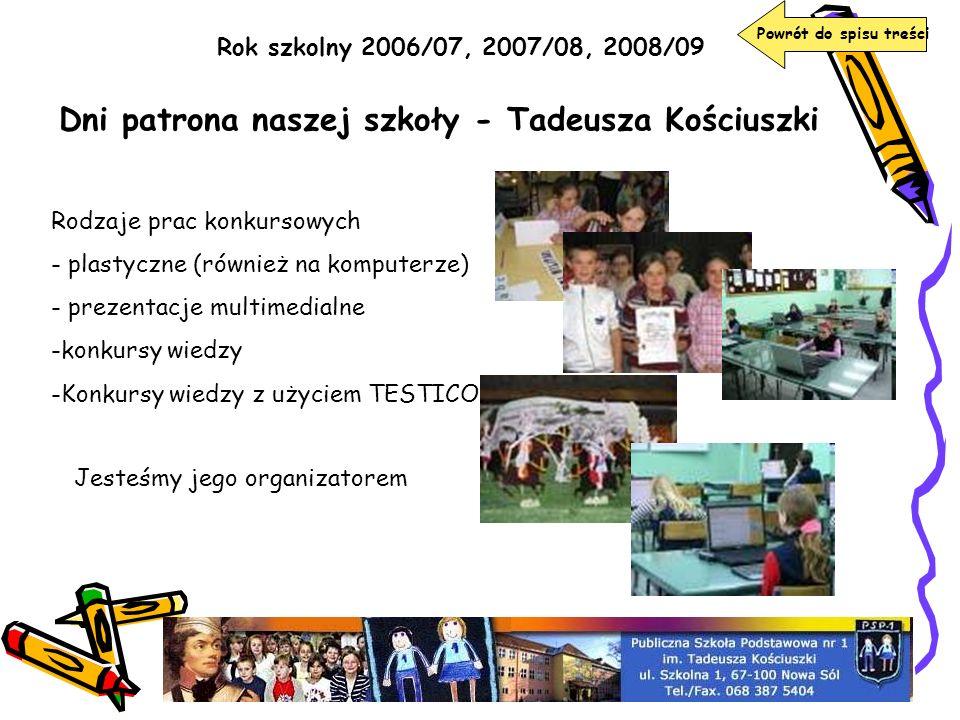 Dni patrona naszej szkoły - Tadeusza Kościuszki
