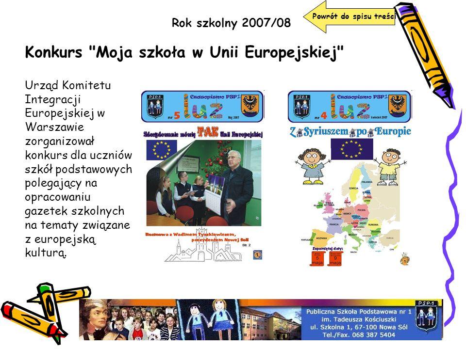 Konkurs Moja szkoła w Unii Europejskiej