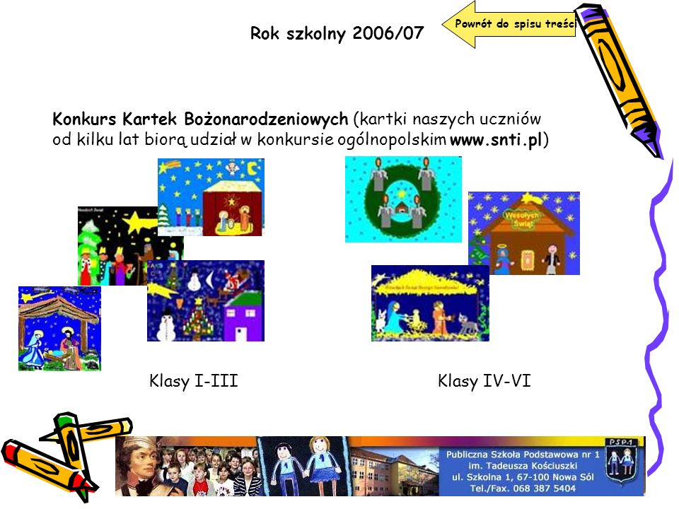 Powrót do spisu treści Rok szkolny 2006/07.