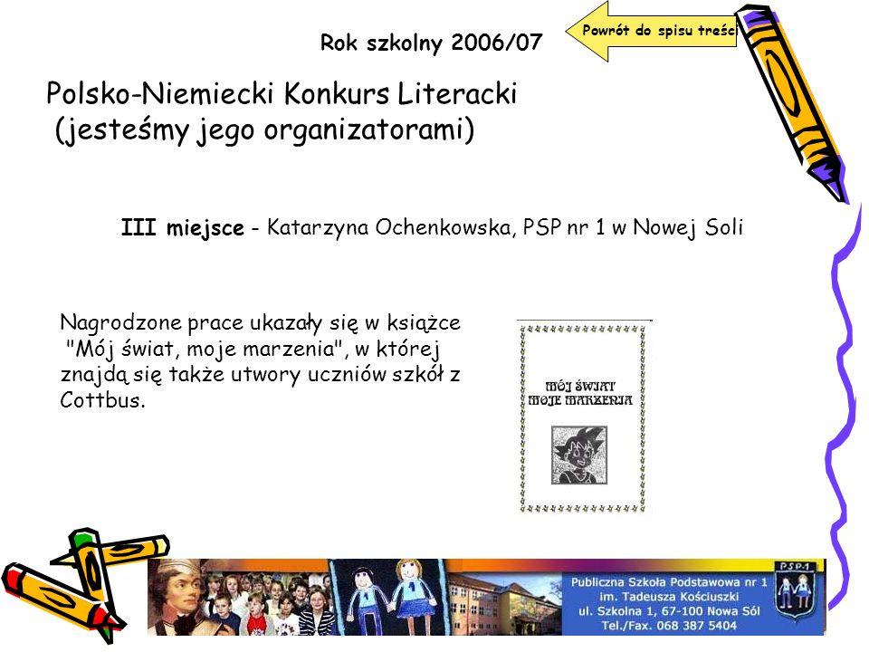 Polsko-Niemiecki Konkurs Literacki (jesteśmy jego organizatorami)