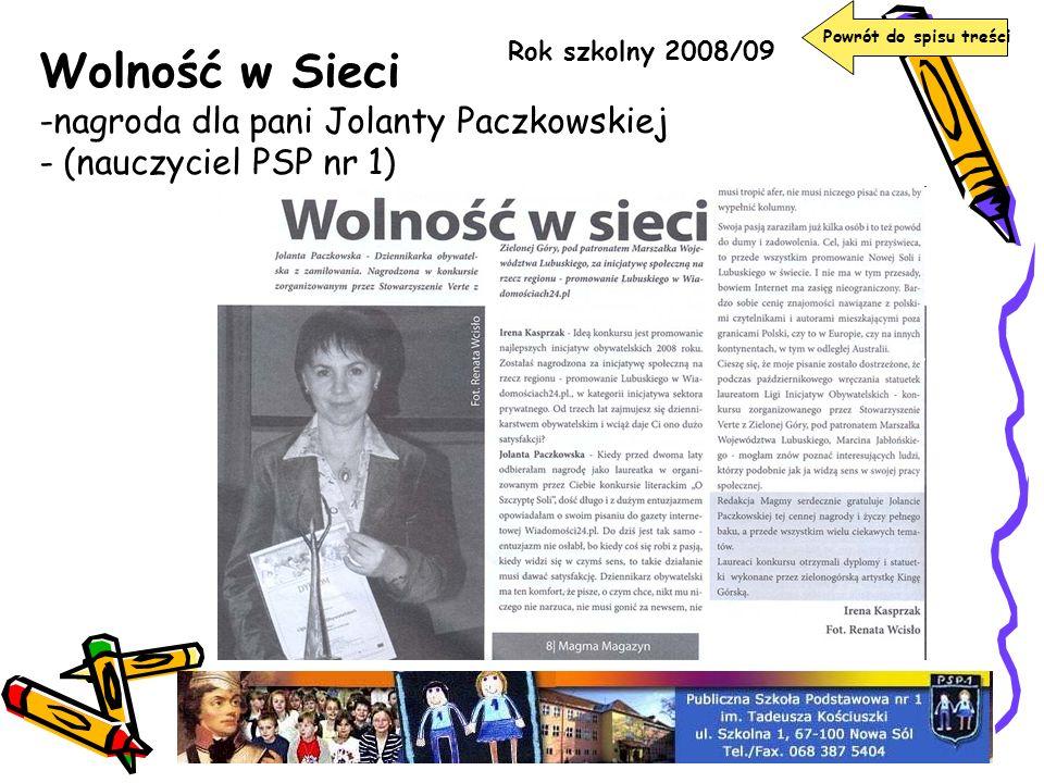 Wolność w Sieci nagroda dla pani Jolanty Paczkowskiej
