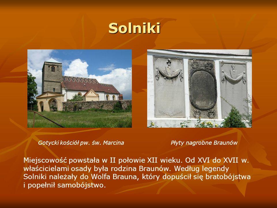 Solniki Gotycki kościół pw. św. Marcina Płyty nagrobne Braunów