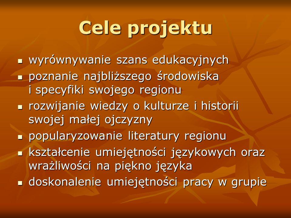 Cele projektu wyrównywanie szans edukacyjnych