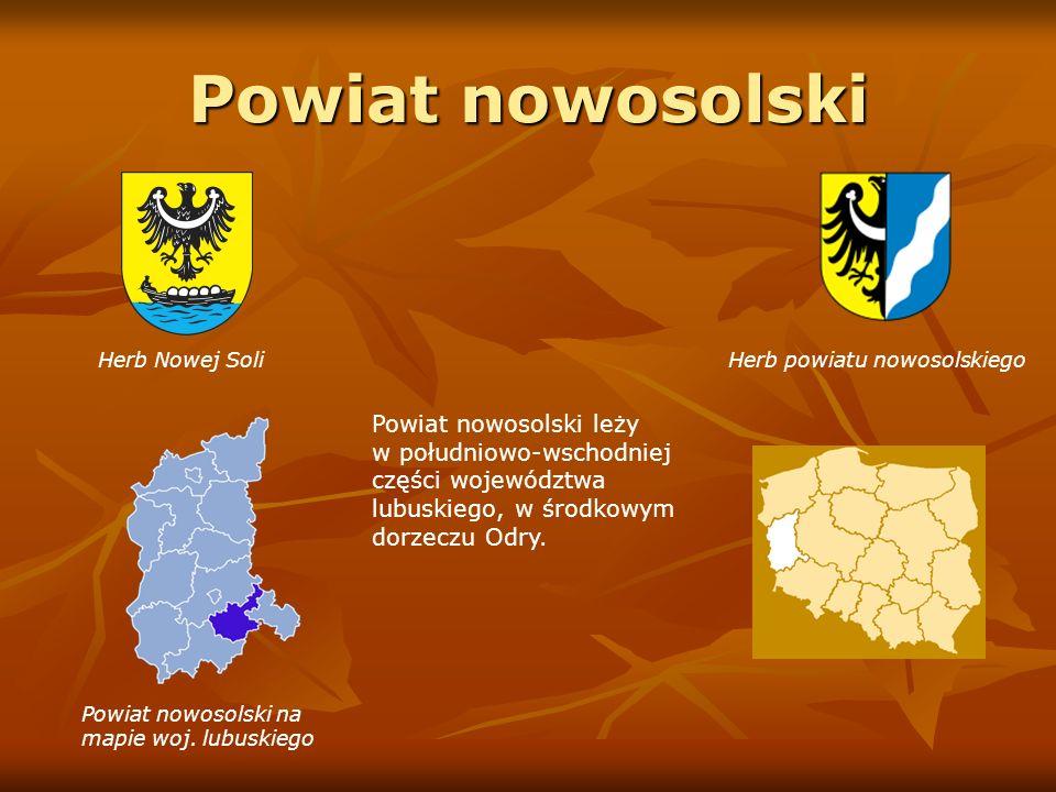 Powiat nowosolski Herb Nowej Soli Herb powiatu nowosolskiego.