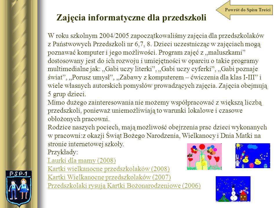 Zajęcia informatyczne dla przedszkoli