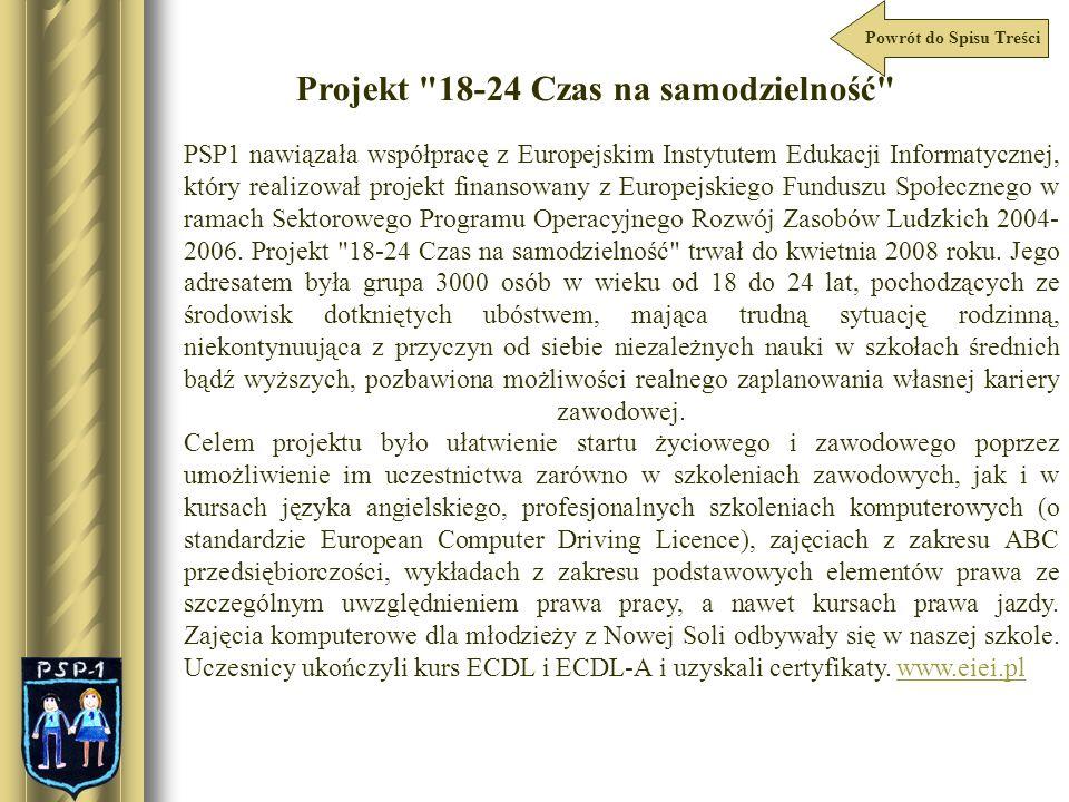 Projekt 18-24 Czas na samodzielność