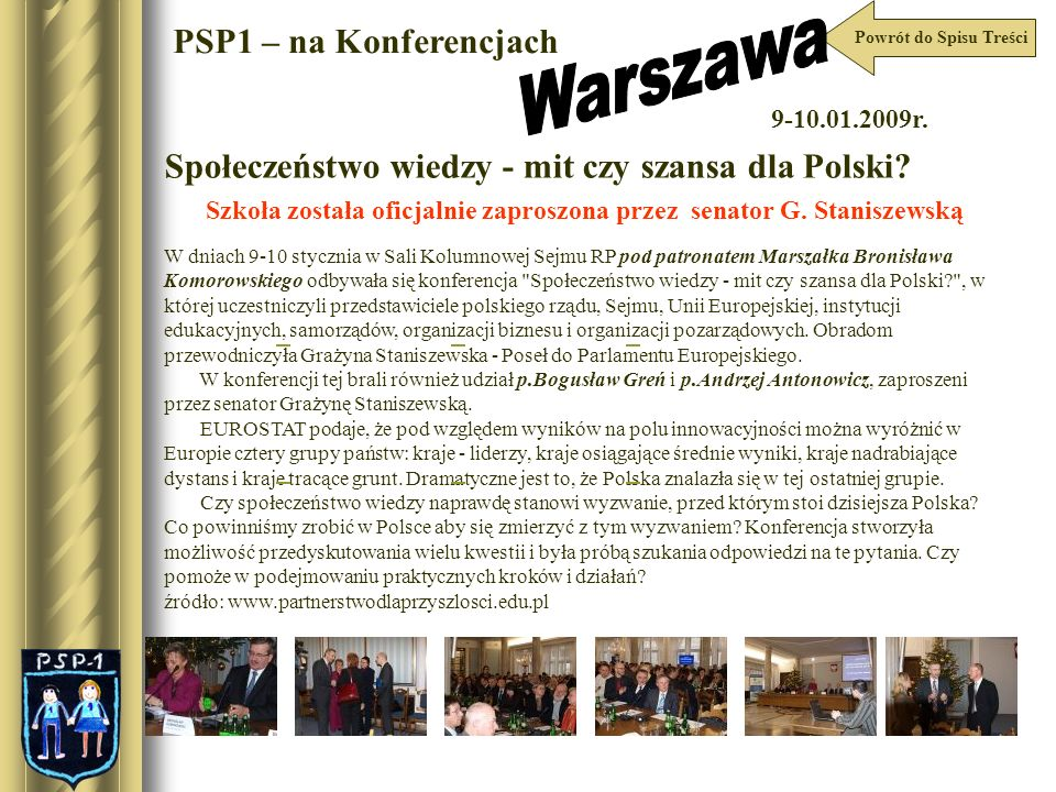 Warszawa PSP1 – na Konferencjach
