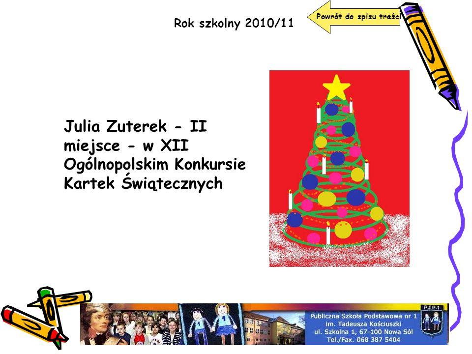 Powrót do spisu treści Rok szkolny 2010/11.