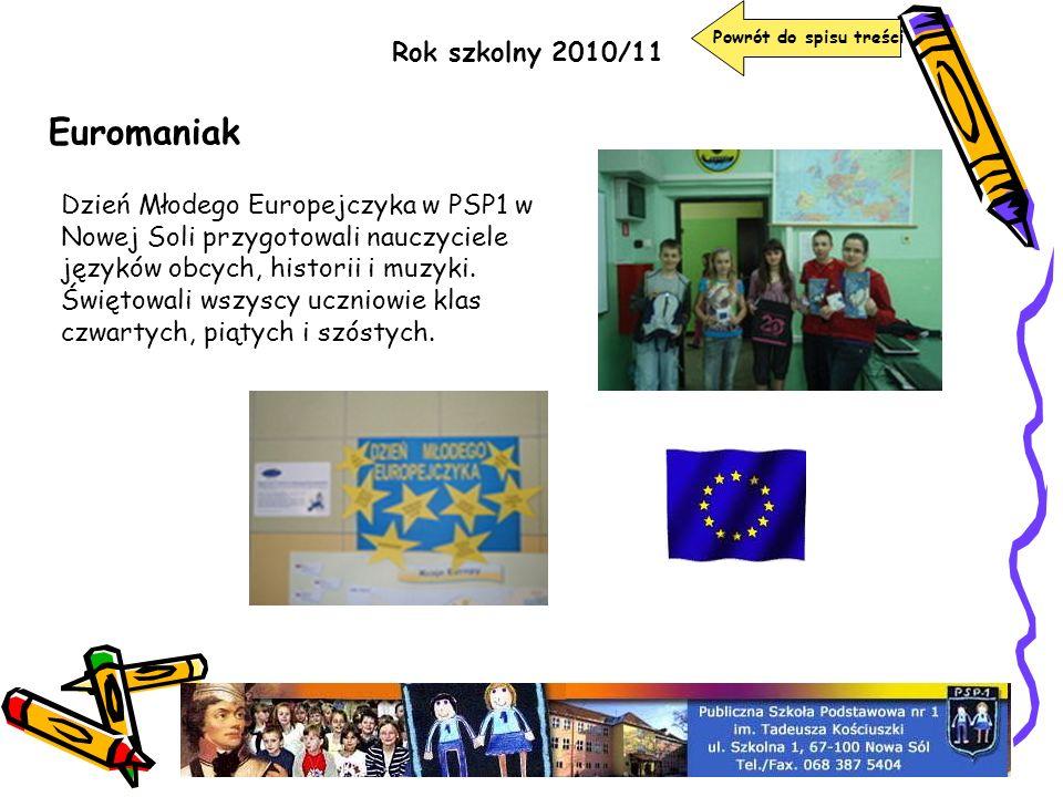 Euromaniak Rok szkolny 2010/11