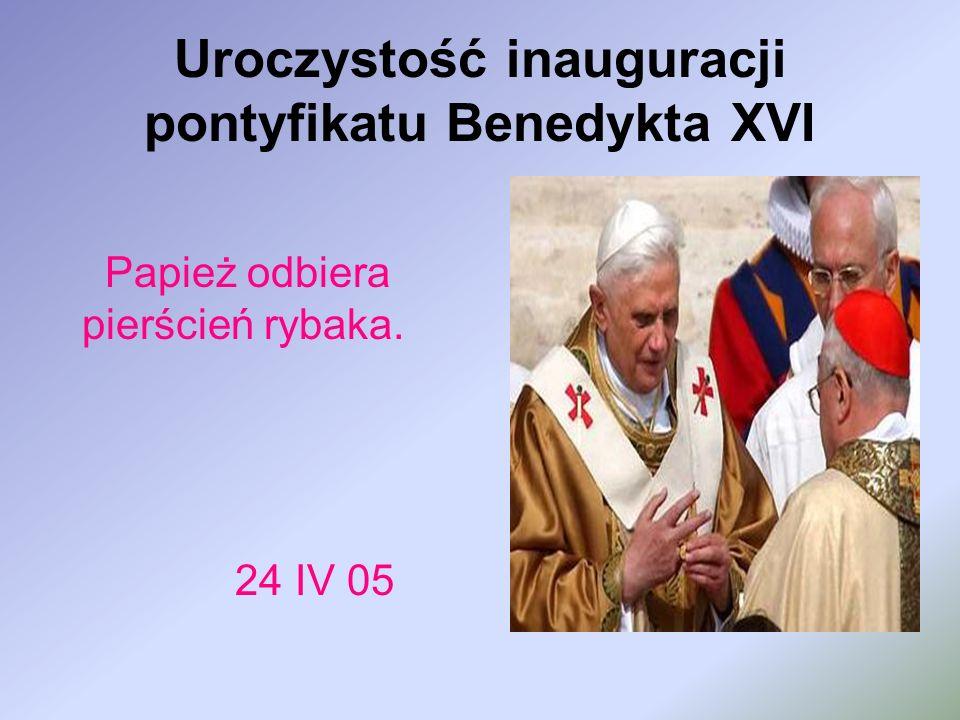 Uroczystość inauguracji pontyfikatu Benedykta XVI