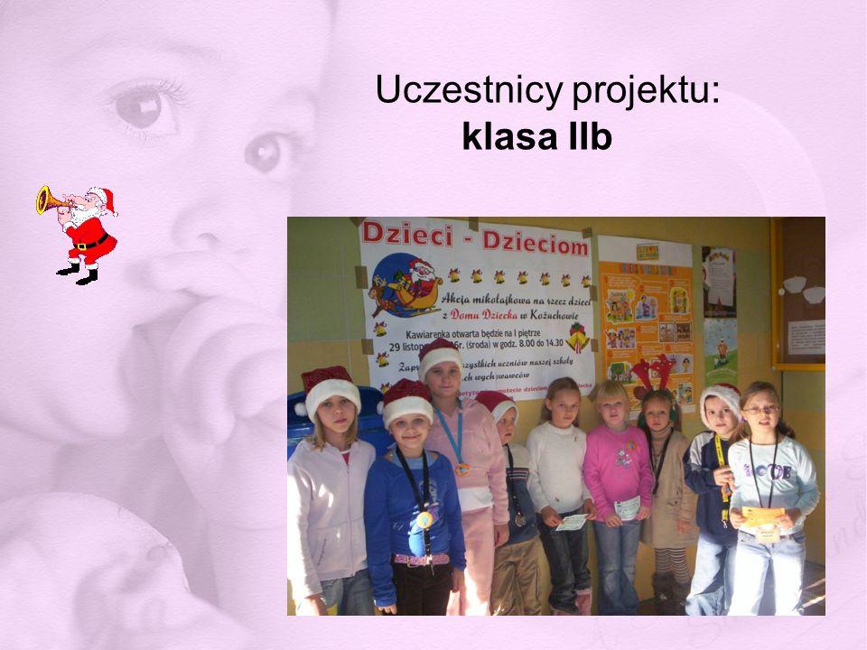 Uczestnicy projektu: klasa IIb