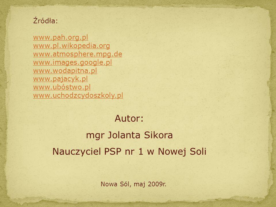 Nauczyciel PSP nr 1 w Nowej Soli