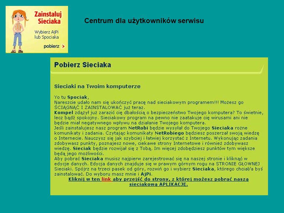 Centrum dla użytkowników serwisu