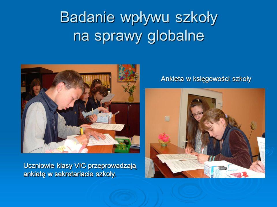 Badanie wpływu szkoły na sprawy globalne