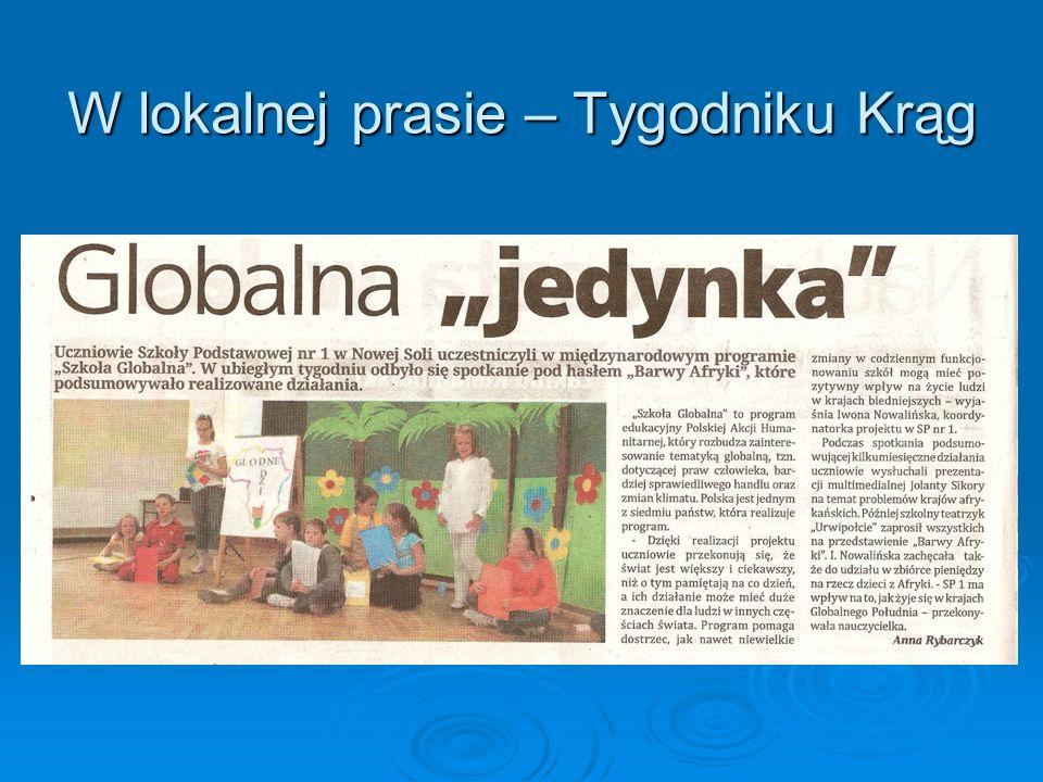 W lokalnej prasie – Tygodniku Krąg