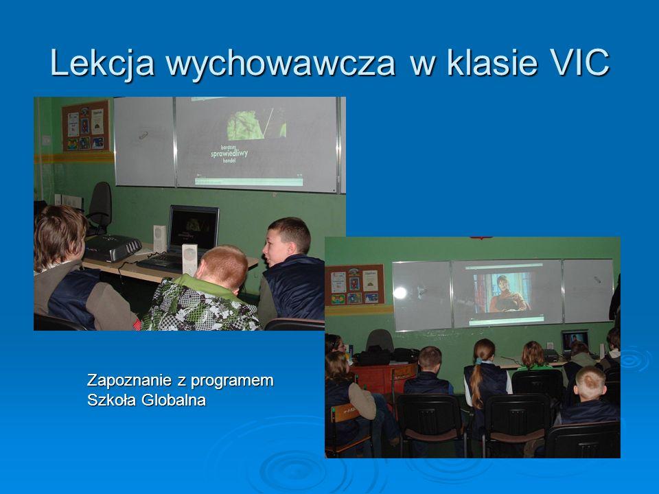 Lekcja wychowawcza w klasie VIC