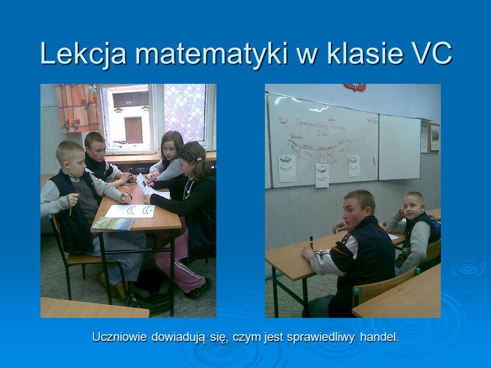 Lekcja matematyki w klasie VC