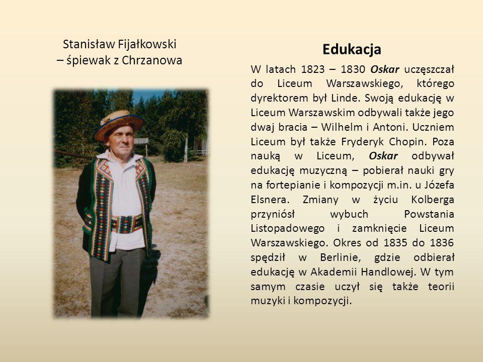 Stanisław Fijałkowski – śpiewak z Chrzanowa
