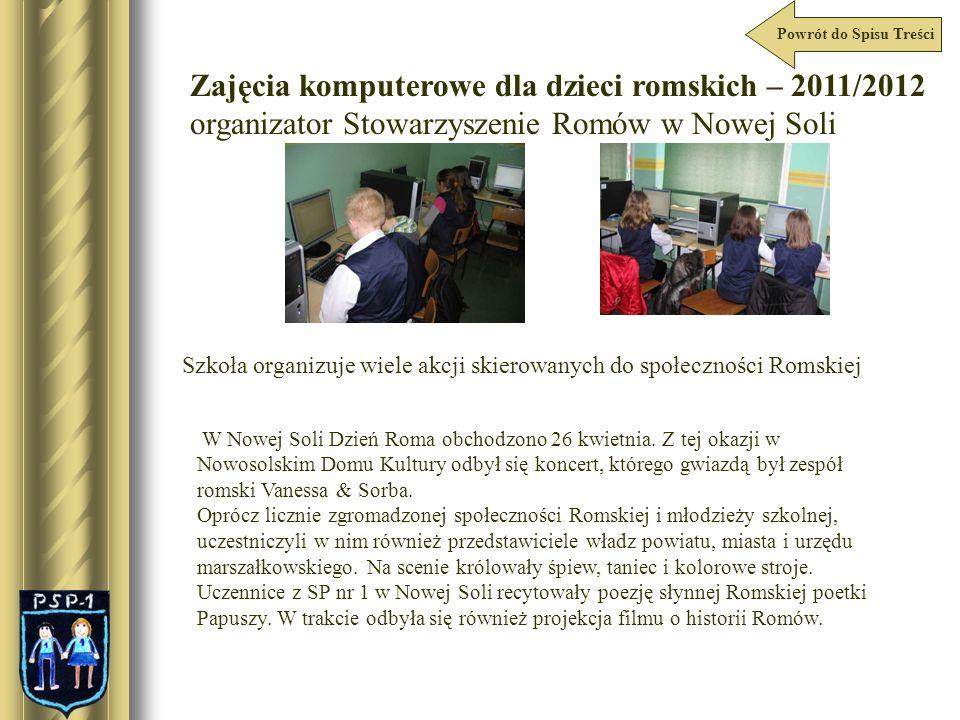 Zajęcia komputerowe dla dzieci romskich – 2011/2012