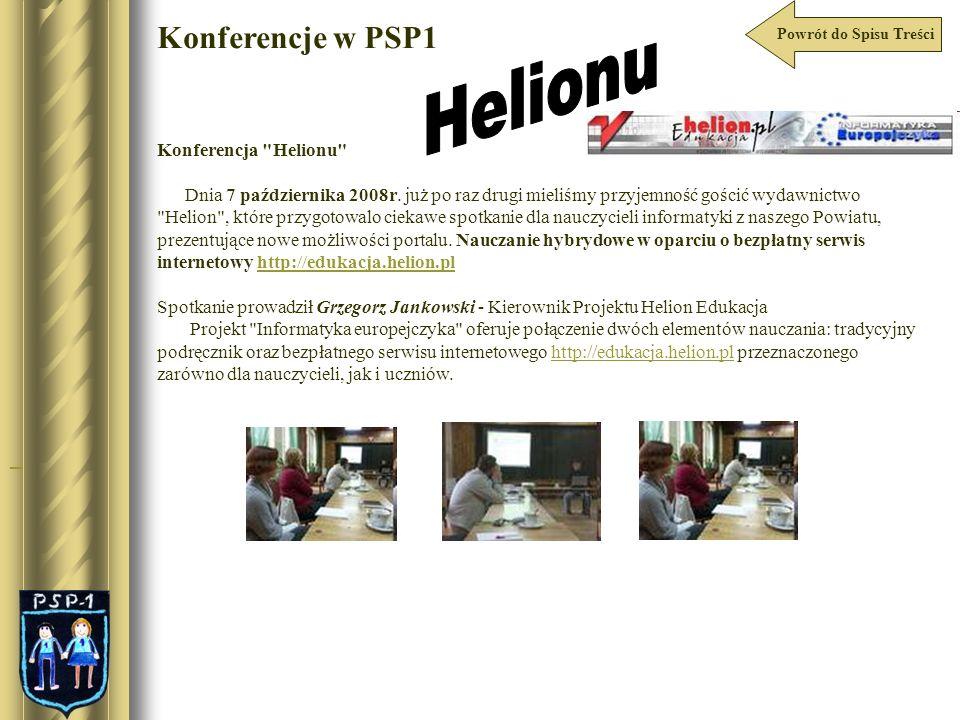 Helionu Konferencje w PSP1 Konferencja Helionu
