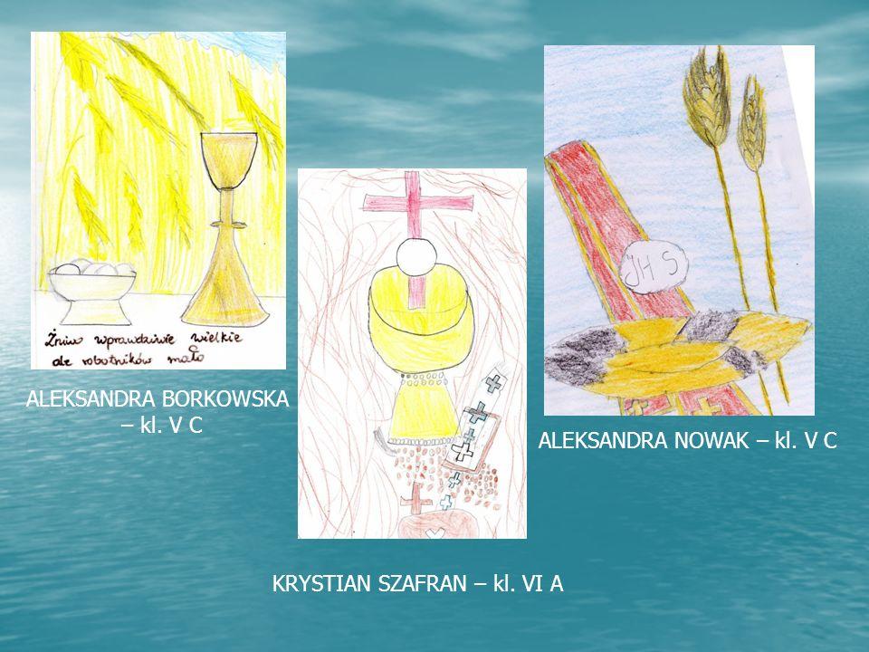 ALEKSANDRA BORKOWSKA – kl. V C ALEKSANDRA NOWAK – kl. V C KRYSTIAN SZAFRAN – kl. VI A