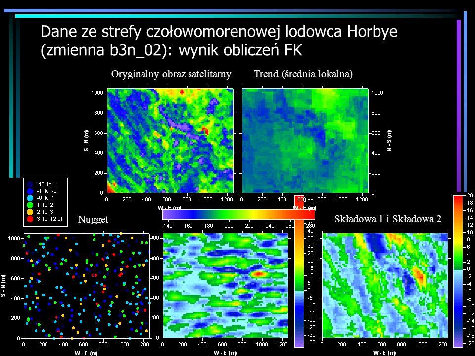 Dane ze strefy czołowomorenowej lodowca Horbye (zmienna b3n_02): wynik obliczeń FK