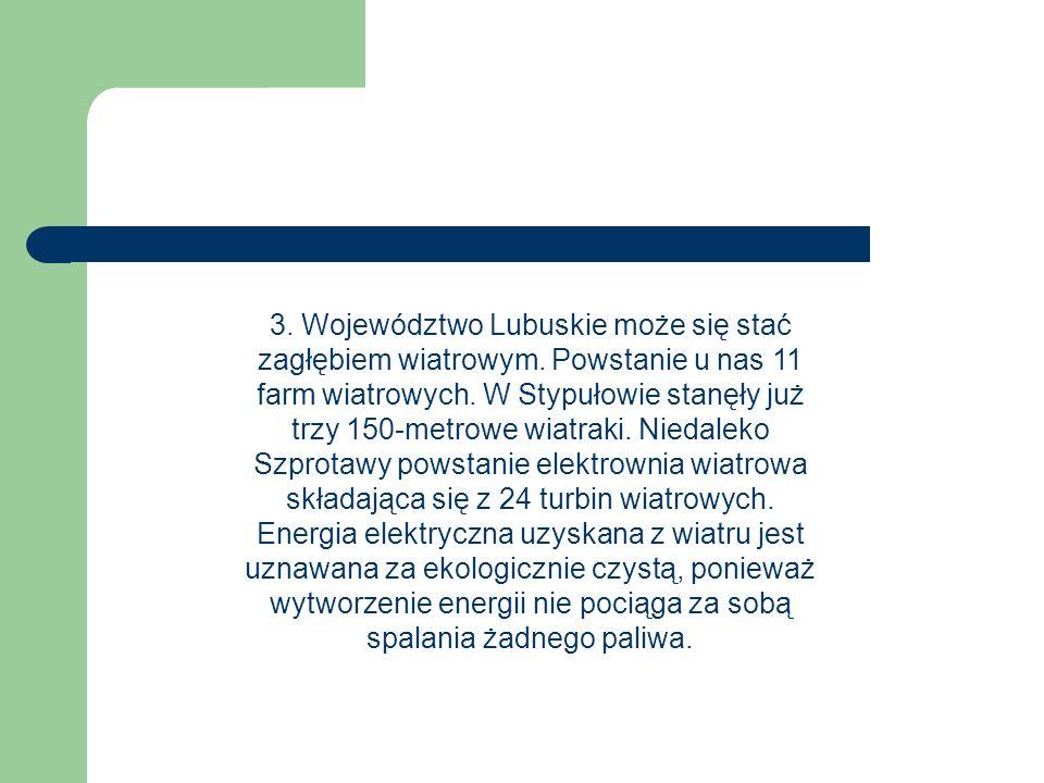 3. Województwo Lubuskie może się stać zagłębiem wiatrowym