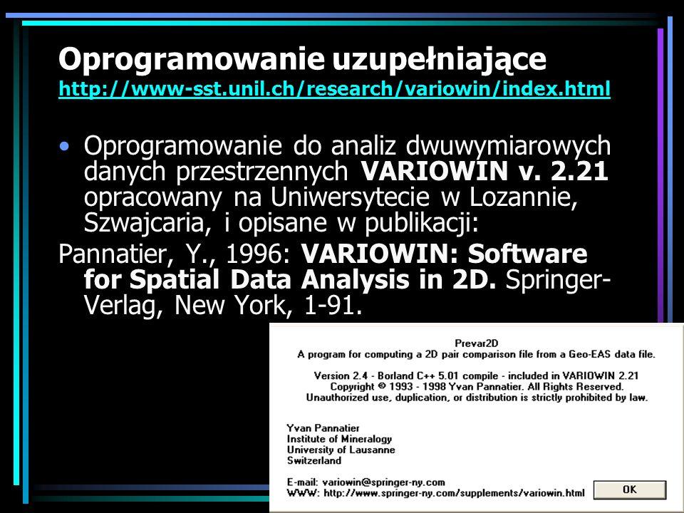 Oprogramowanie uzupełniające http://www-sst. unil