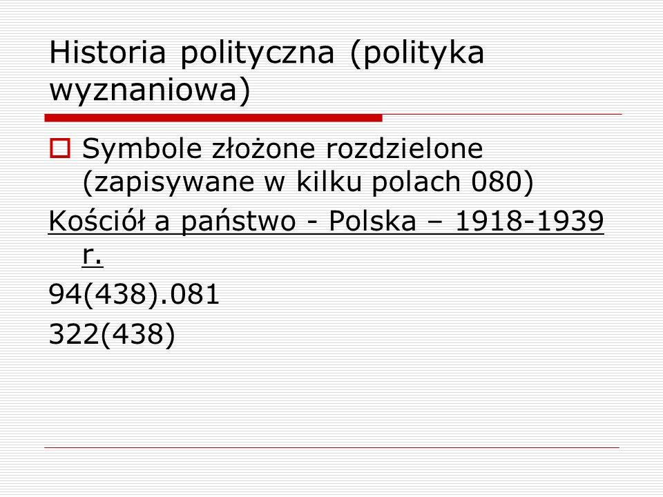Historia polityczna (polityka wyznaniowa)