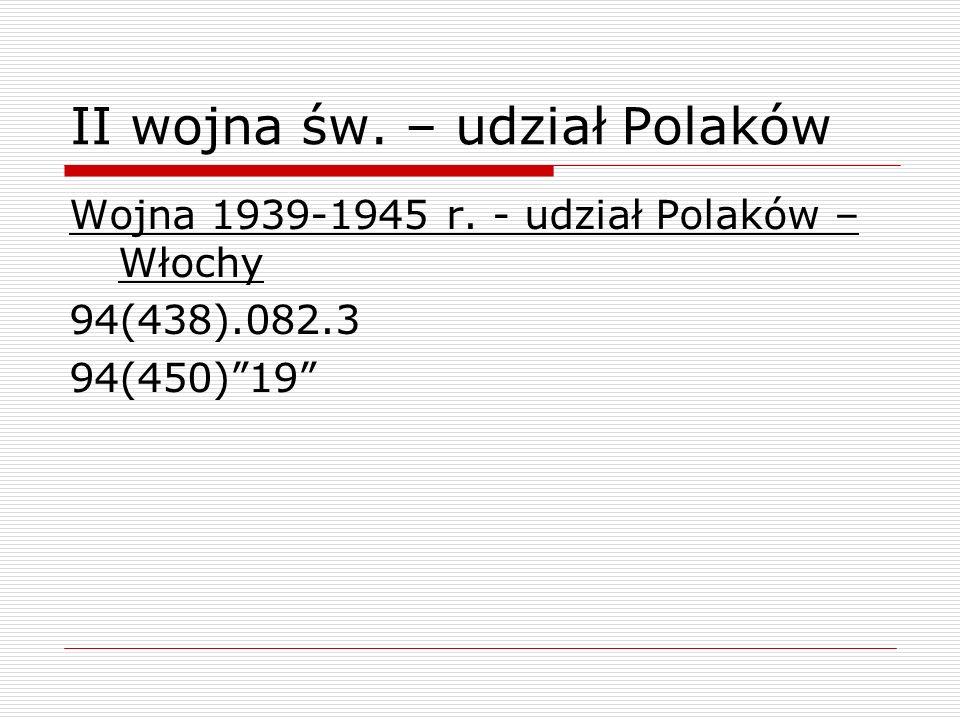 II wojna św. – udział Polaków