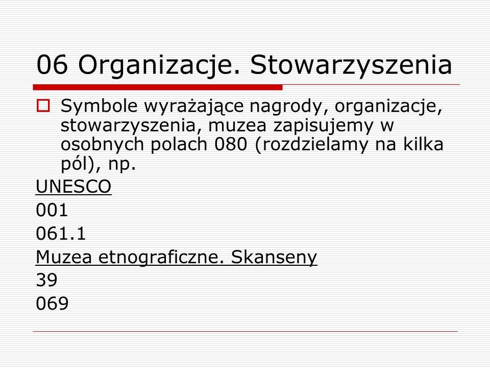 06 Organizacje. Stowarzyszenia