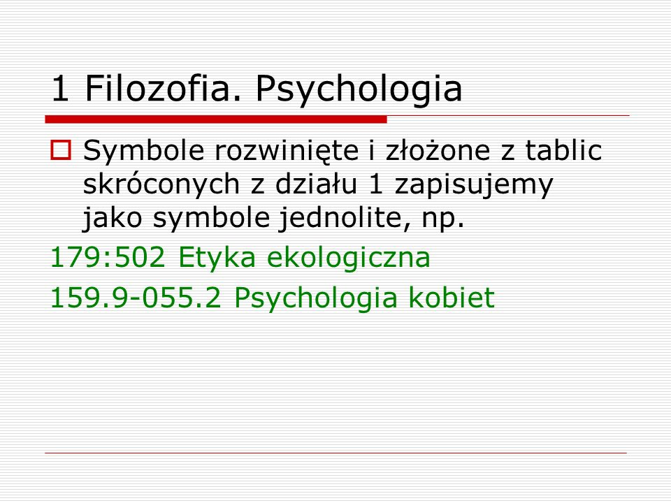1 Filozofia. Psychologia
