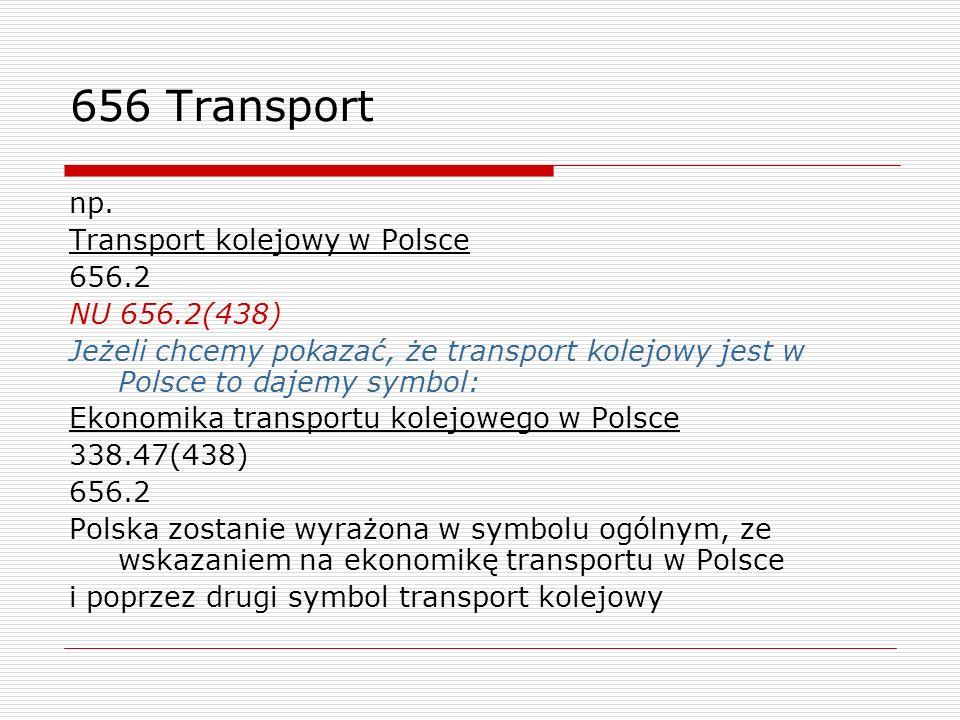 656 Transport np. Transport kolejowy w Polsce 656.2 NU 656.2(438)