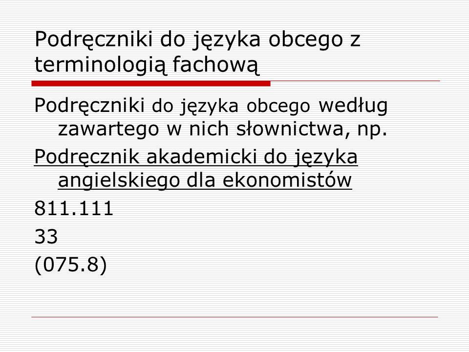 Podręczniki do języka obcego z terminologią fachową