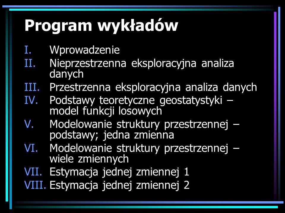 Program wykładów Wprowadzenie