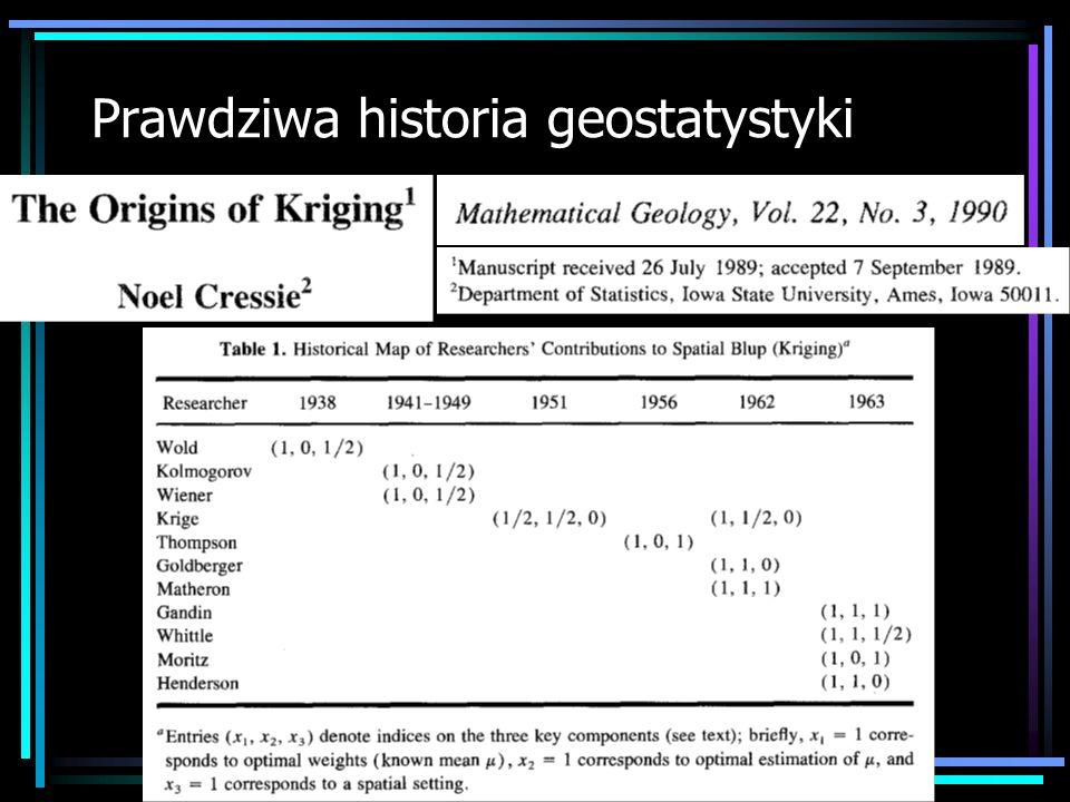 Prawdziwa historia geostatystyki