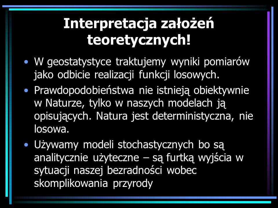 Interpretacja założeń teoretycznych!