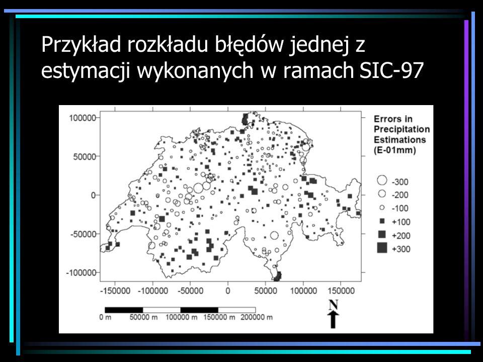 Przykład rozkładu błędów jednej z estymacji wykonanych w ramach SIC-97