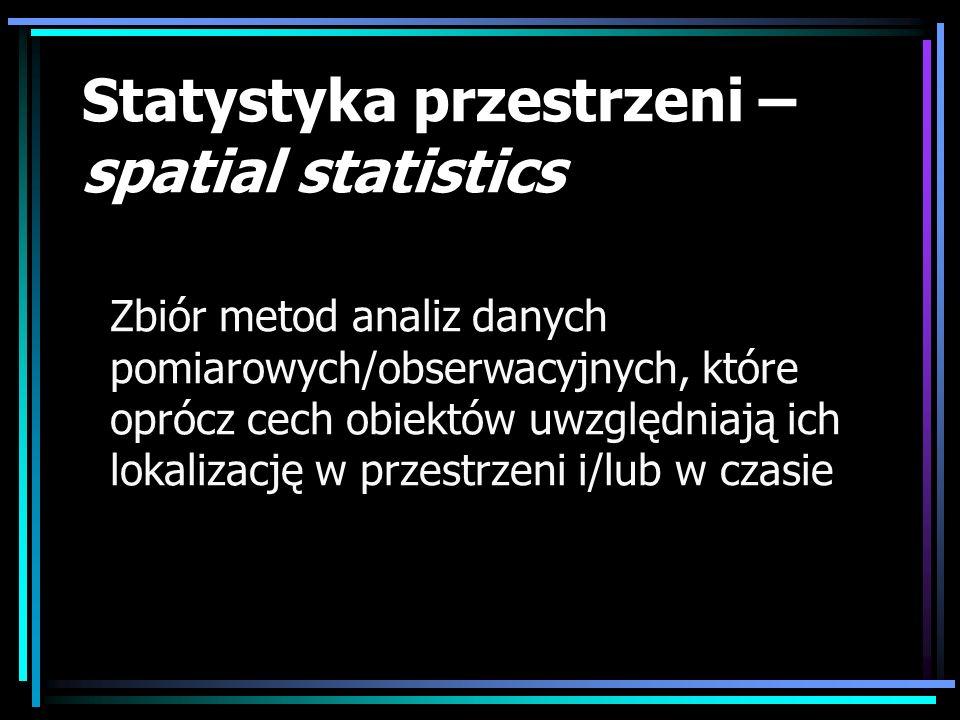 Statystyka przestrzeni – spatial statistics